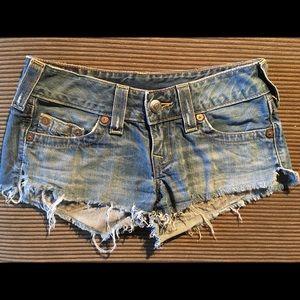 True Religion Bobby Cut-Off Shorts